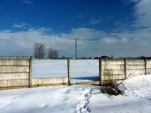 Terenul pe care ar urma să fie construită instalația de producere a biogazului