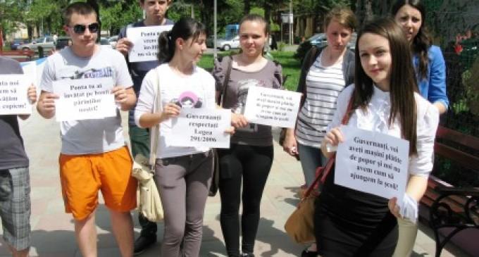 Protest pentru banii de navetă