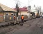 Au început lucrările pe strada Tineretului