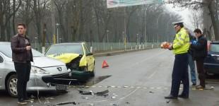 Accident în fața cimitirului