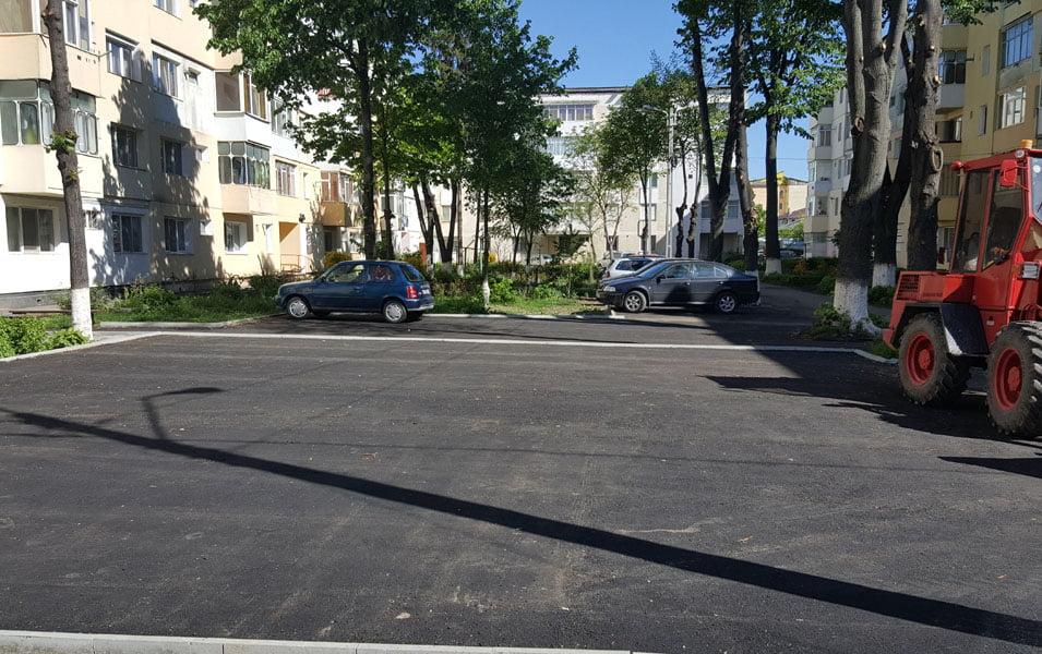 Parcare nouă în strada Smirodava