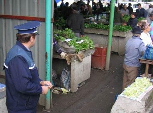 Amenzi de peste 28.000 de lei aplicate de polițiști în piețe, târguri și oboare
