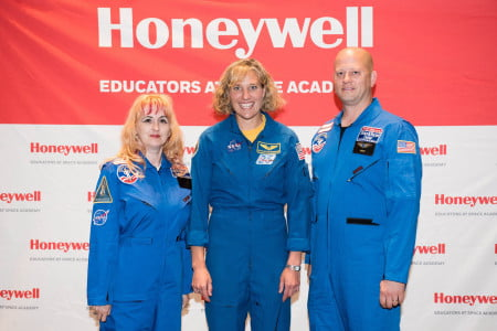Astronaut speaker Dorothy Metcalf-Lindenburger Day 1 of the Honeywell Educators at Space Academy at the US Space and Rocket Center in Huntsville, Alabama, Thursday, June 16, 2016