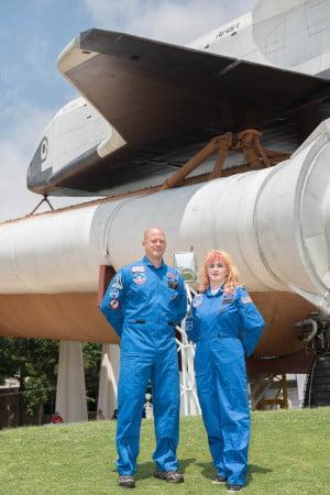 Ambassadors David Amidon of Syracuse, New York, and Nadia Ciru of Roman, Romania  Day 1 of the Honeywell Educators at Space Academy at the US Space and Rocket Center in Huntsville, Alabama, Thursday, June 16, 2016