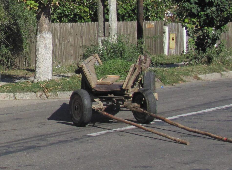 Căruțaș accidentat la Vulpășești