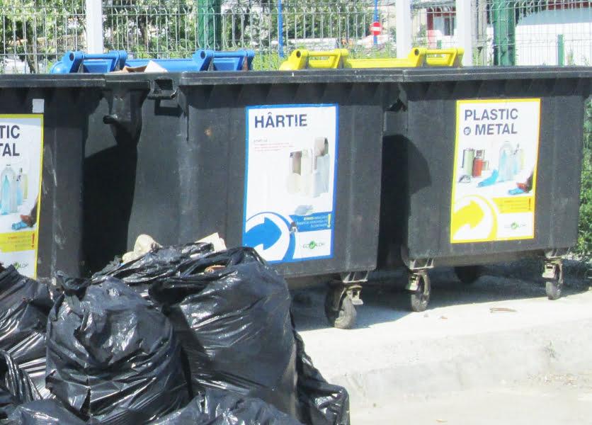 Centru de colectare a deșeurilor pe ocolitoare
