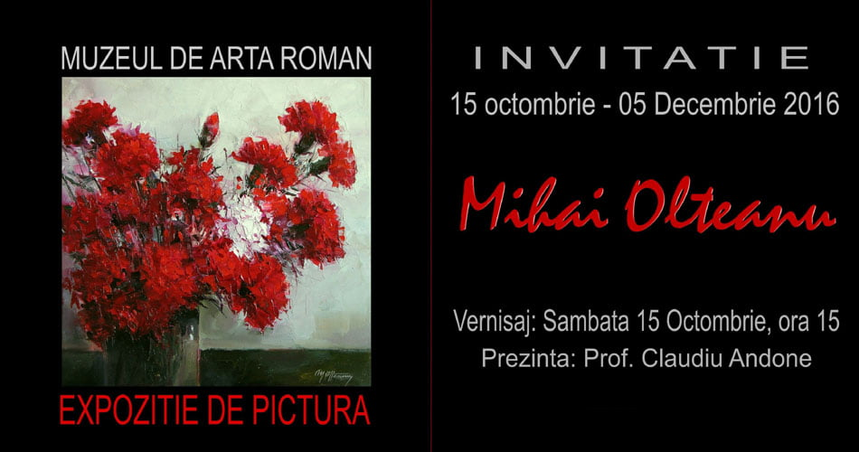 O nouă expoziție a pictorului romașcan Mihai Olteanu, de sâmbătă la Muzeul de Artă