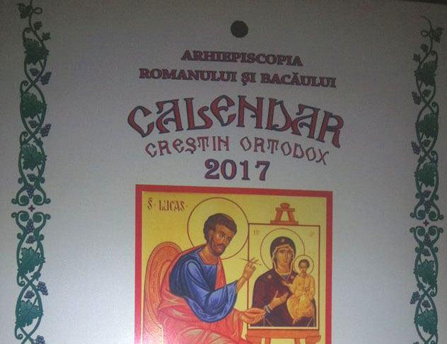 S-a lansat calendarul Bisericii Ortodoxe pe anul 2017