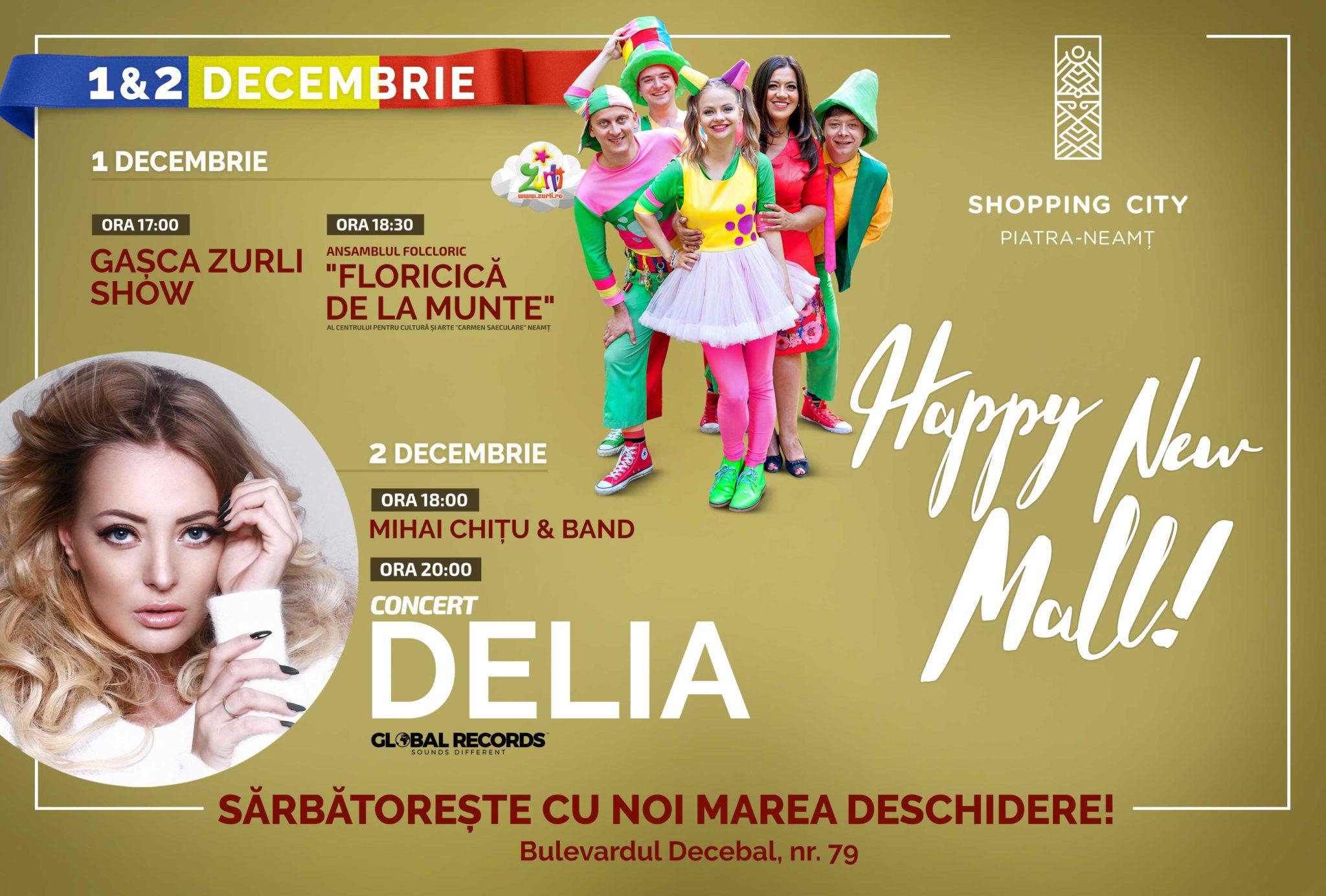 Inaugurarea Shopping City Piatra Neamț: zeci de oferte speciale, concert Delia și multe surprize