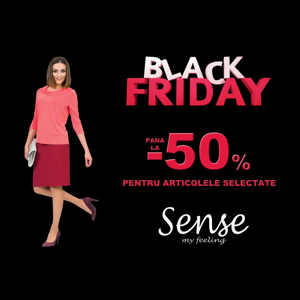 Sense demarează campania de Black Friday