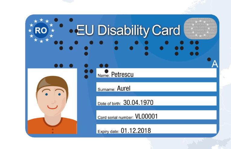 Se primesc cereri de eliberare a cardului european pentru dizabilitate