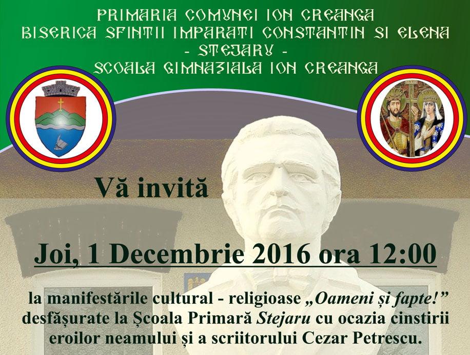 Ziua Națională îl aduce în prim plan pe scriitorul Cezar Petrescu