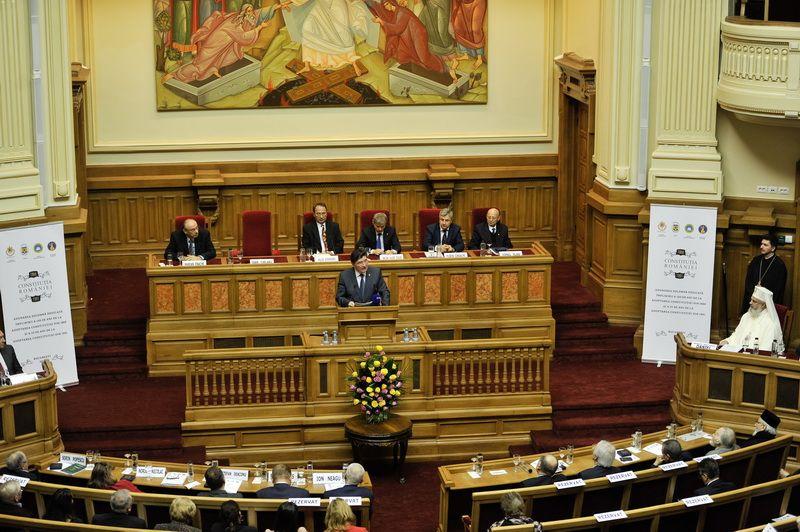 Adunare solemnă dedicată împlinirii a 150 de ani de la adoptarea Constituției din 1866 și a 25 de ani de la adoptarea Constituției din 1991
