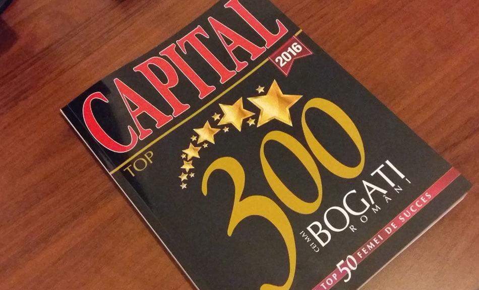 Topul bogăției. Nemțenii punctează în Top 300 Capital