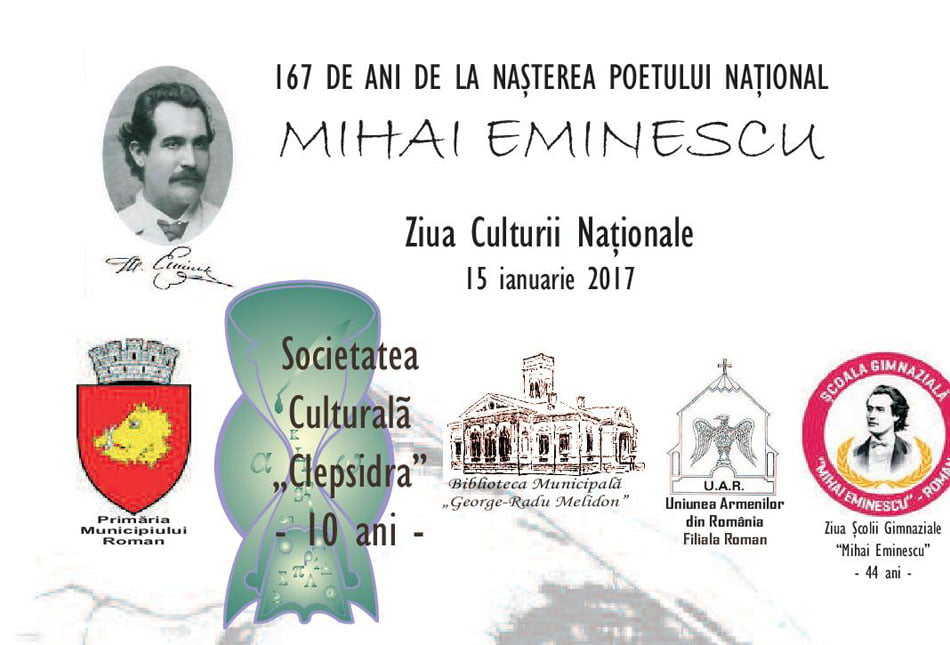Mihai Eminescu, sărbătorit cu evenimente inedite la Roman