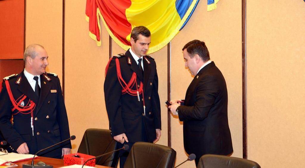 Pompieri avansați în grad, de Ziua Protecției Civile