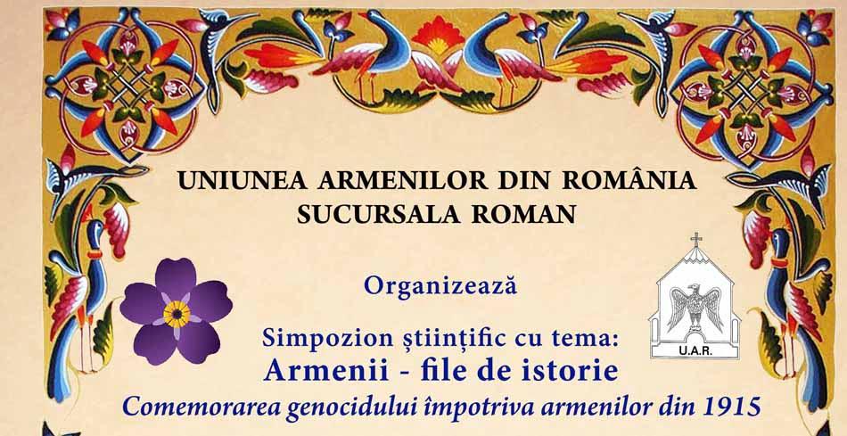 Genocidul împotriva armenilor, comemorat la Roman