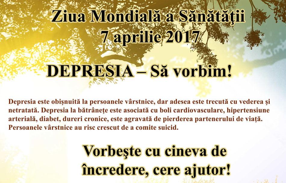 Depresia, tema din acest an a Zilei Mondiale a Sănătății