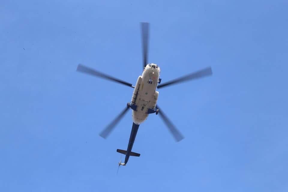 Elicopterele Unității Speciale de Aviație Iași au intervenit la Roman, în cadrul unui exercițiu al ISU Neamț