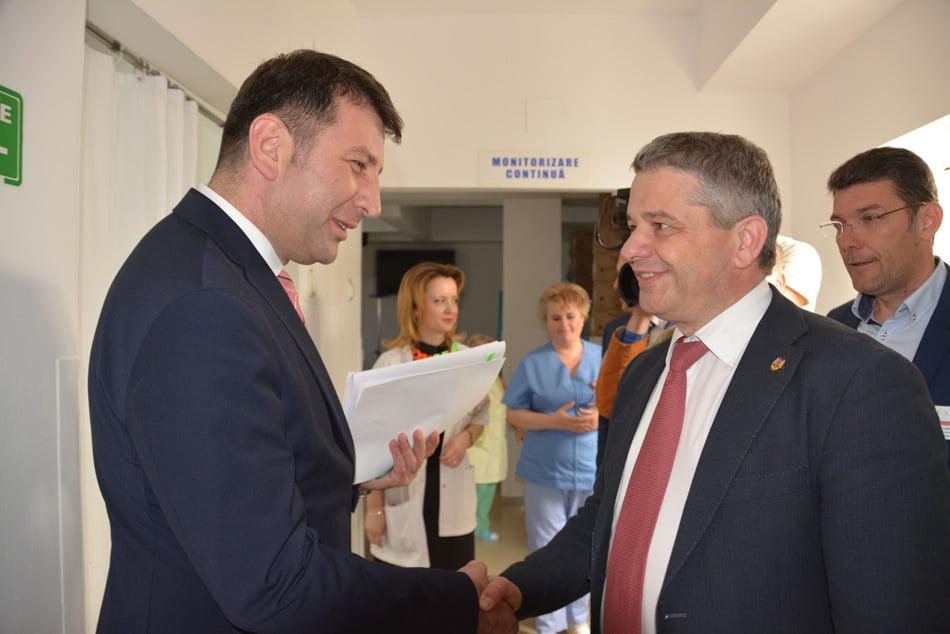 Proiectele și problemele Spitalului, prezentate ministrului Sănătății