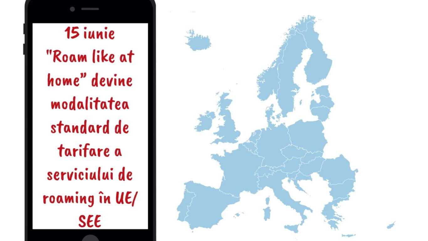 Din 15 iunie, roaming la tarife naționale în Uniunea Europeană și Spațiul Economic European