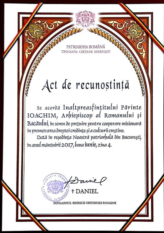 ÎPS Ioachim, apreciat pentru promovarea dreptei credințe și a culturii creștine
