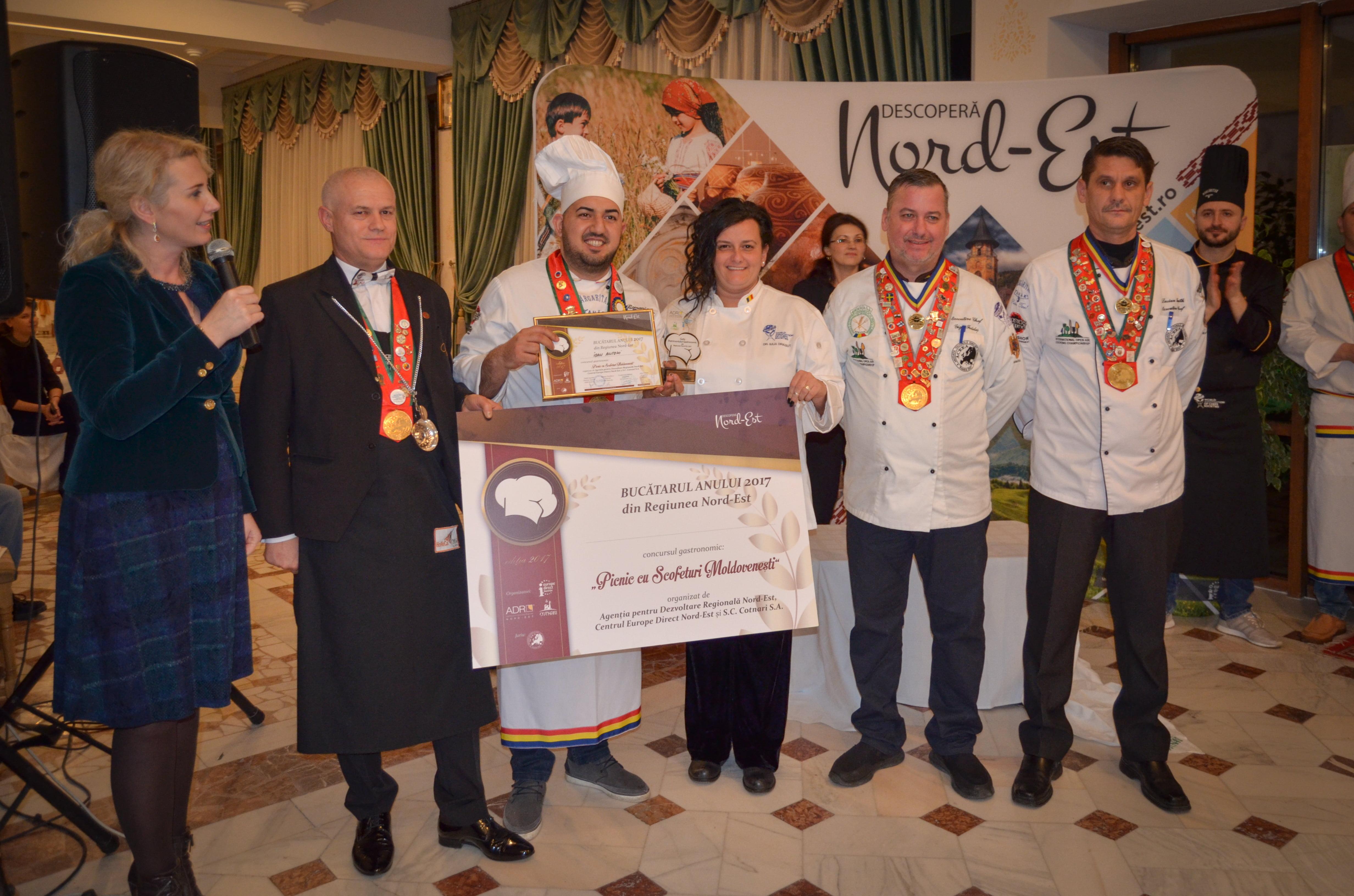 Bucătarul anului 2017, desemnat în cadrul Galei Patrimoniului Gastronomic al Regiunii Nord-Est
