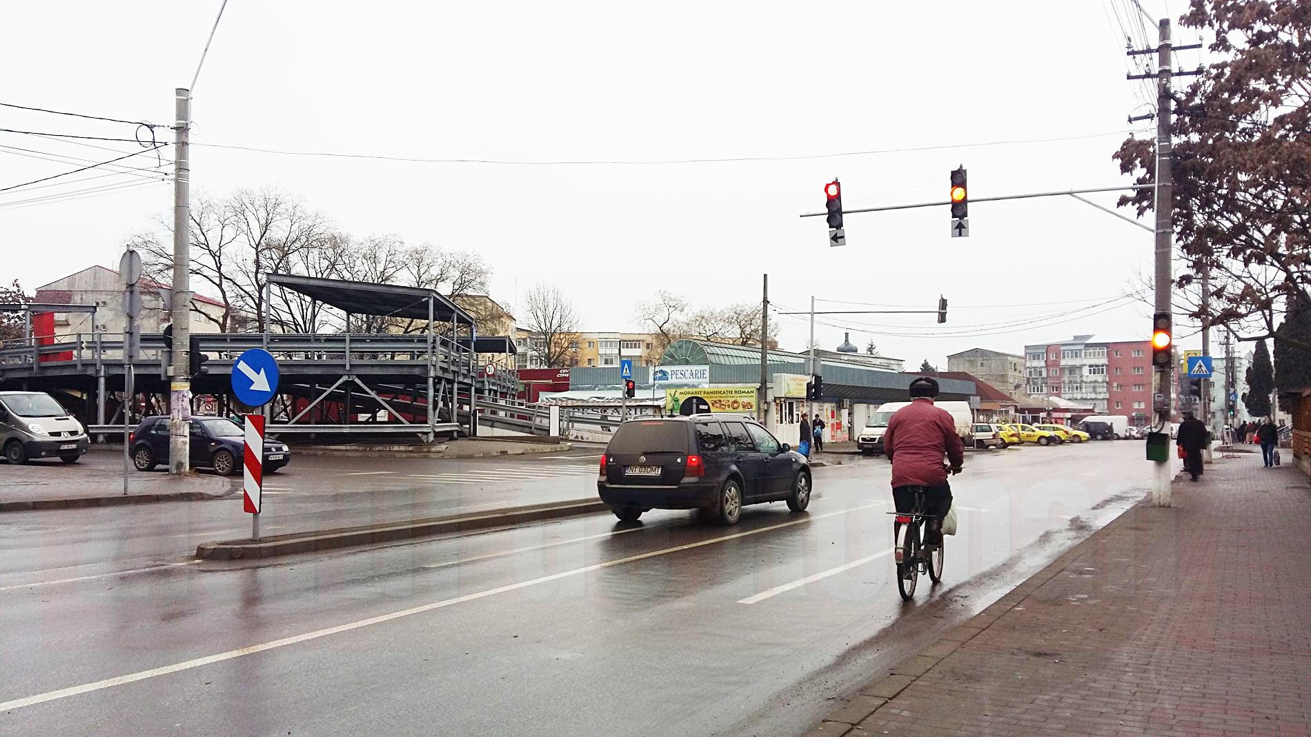 Modificări de circulație în zona Pieței Mari, la intersecția străzilor Aprodu Arbore și Sucedava