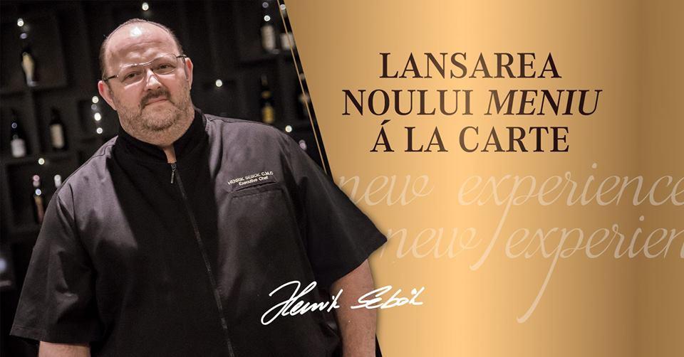 Roman Plaza lansează noul meniu semnat de Master Chef Henrik Sebok. Cină gastronomică și degustare de vinuri