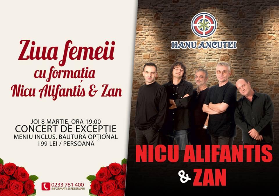 Ziua Femeii se sărbătorește la Hanu Ancuței cu Nicu Alifantis & Zan