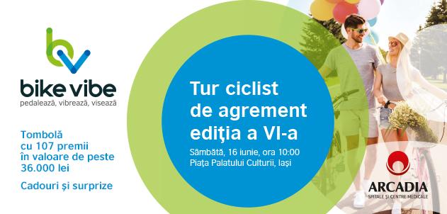 A VI-a ediție a turului ciclist de agrement Arcadia Bike Vibe, pe 16 iunie, la Iași