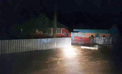 Inundații în localitatea Trifești - Foto: ISU Neamț
