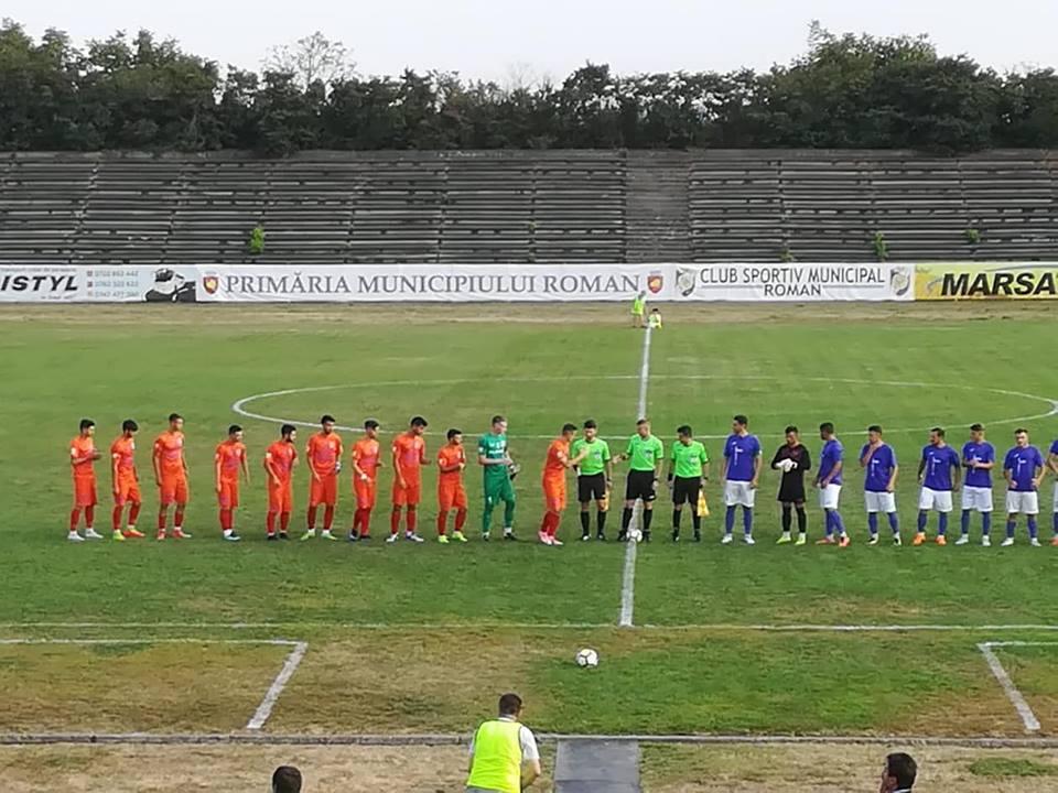 Prima victorie pentru fotbaliștii CSM Roman în acest sezon
