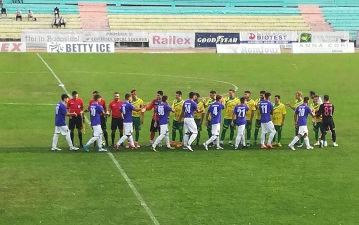 Înfrângere pentru fotbaliștii CSM Roman, la Suceava