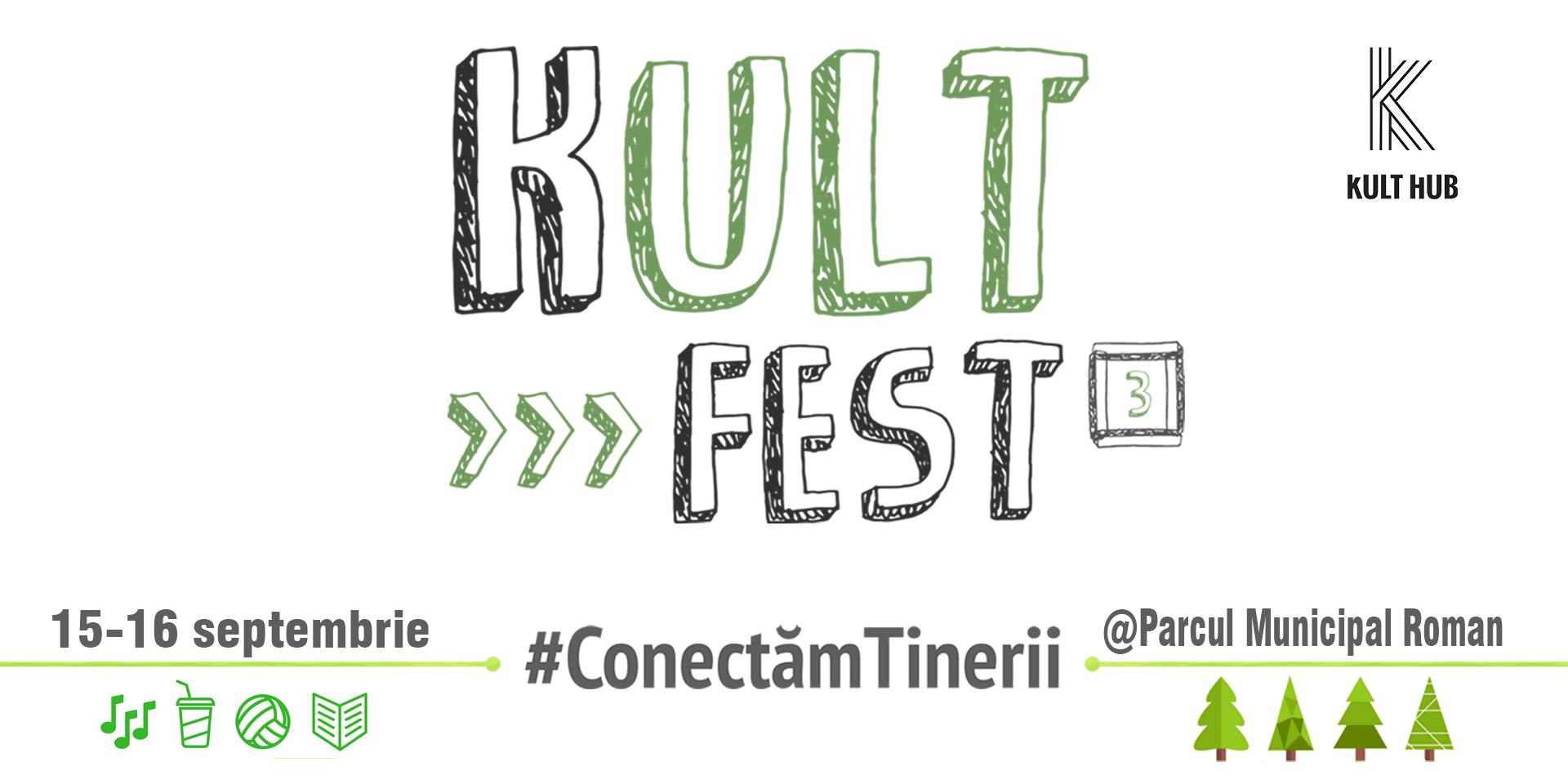 O nouă ediție KULT Fest în Roman, în acest weekend, în Parcul Municipal