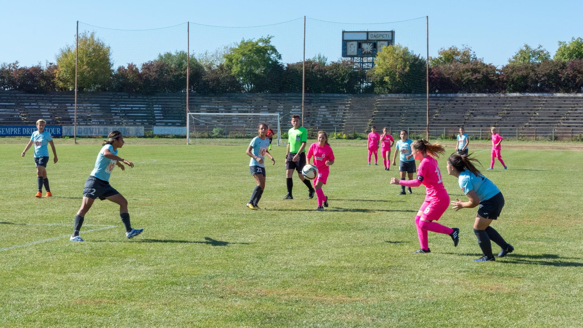[VIDEO] Prima victorie pentru Vulpițele Galbene în Liga a 2-a de fotbal feminin