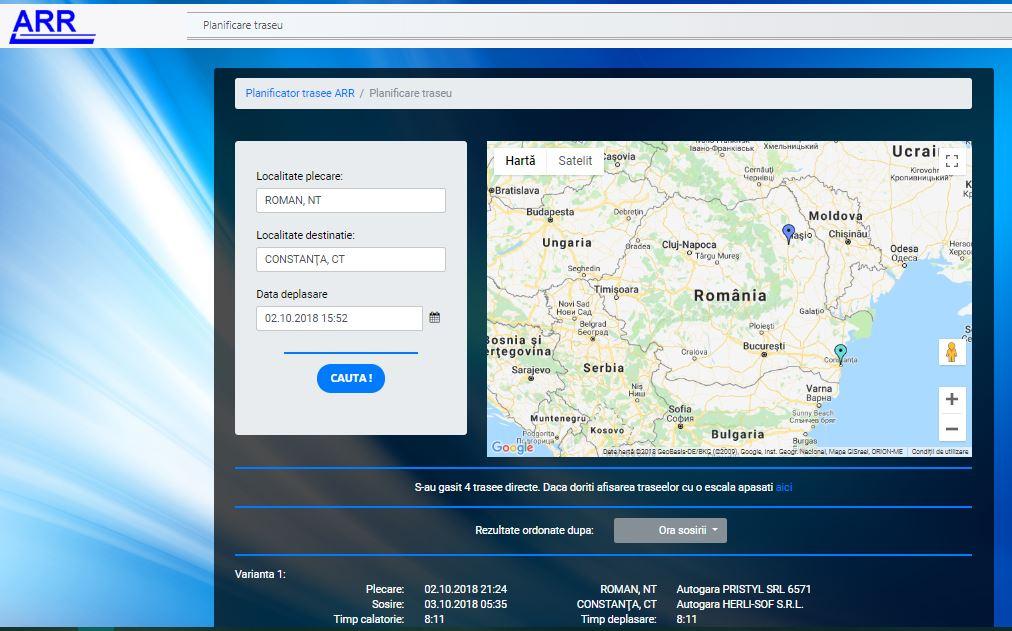 """ARR a lansat aplicația informatică online """"Mersul interjudețean al autobuzelor"""""""