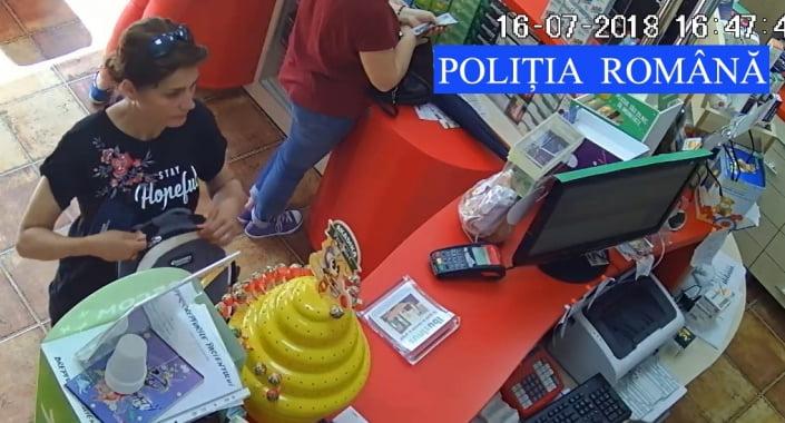 Femeie căutată de polițiști după ce ar fi făcut cumpărături cu un card găsit