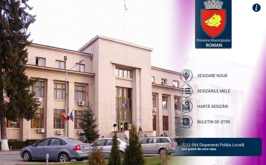 Romașcanii pot face sesizări printr-o aplicație pentru mobil lansată de primărie