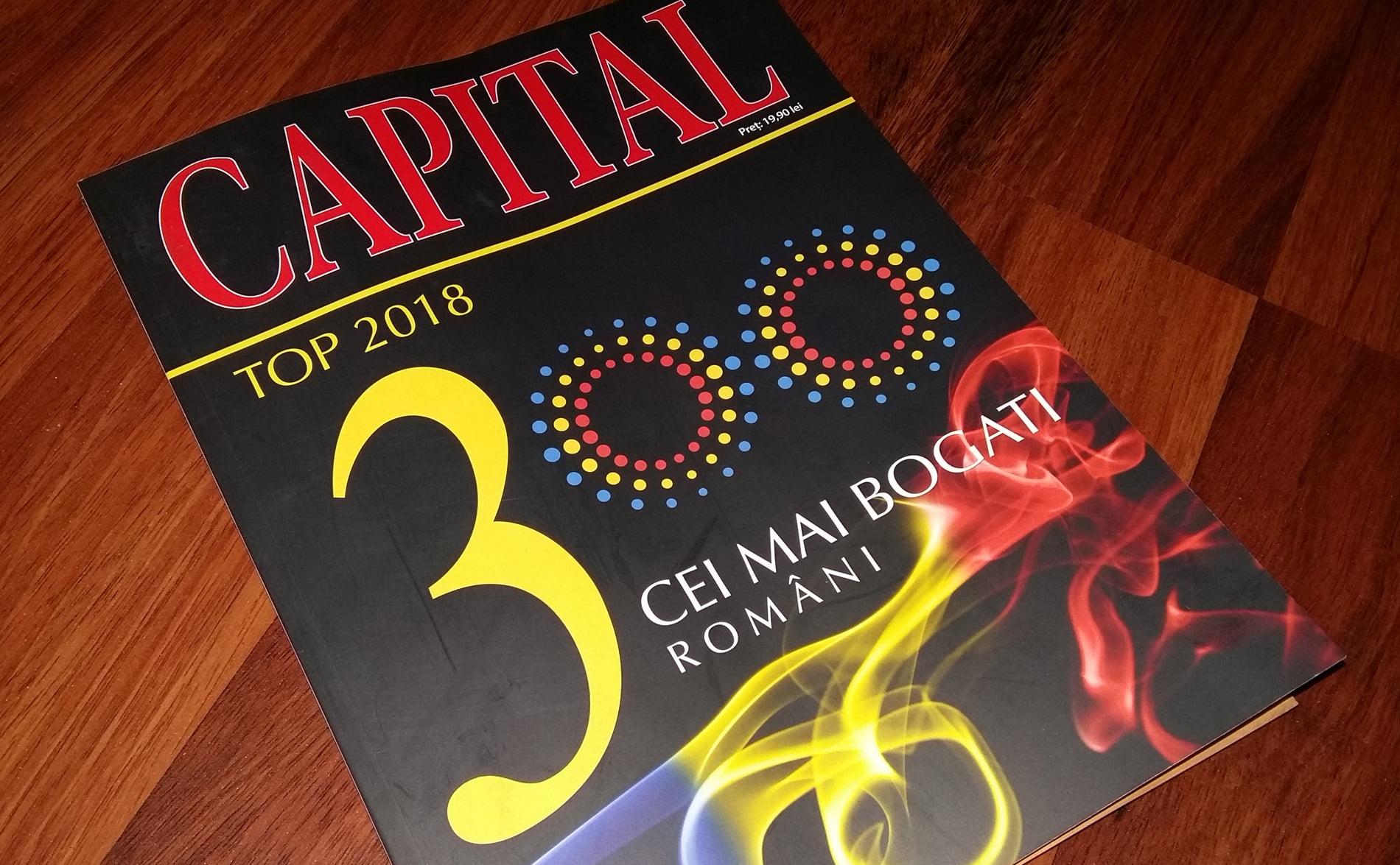 Topul bogăției. Nemțenii punctează și în 2018 în Top 300 Capital