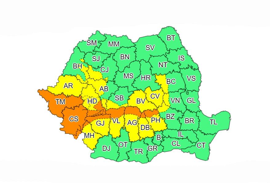 Weekend cu precipitații mixte în întreaga țară