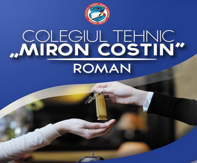 """Oferta educaţională a Colegiului Tehnic """"Miron Costin"""" Roman pentru anul şcolar 2019 – 2020"""