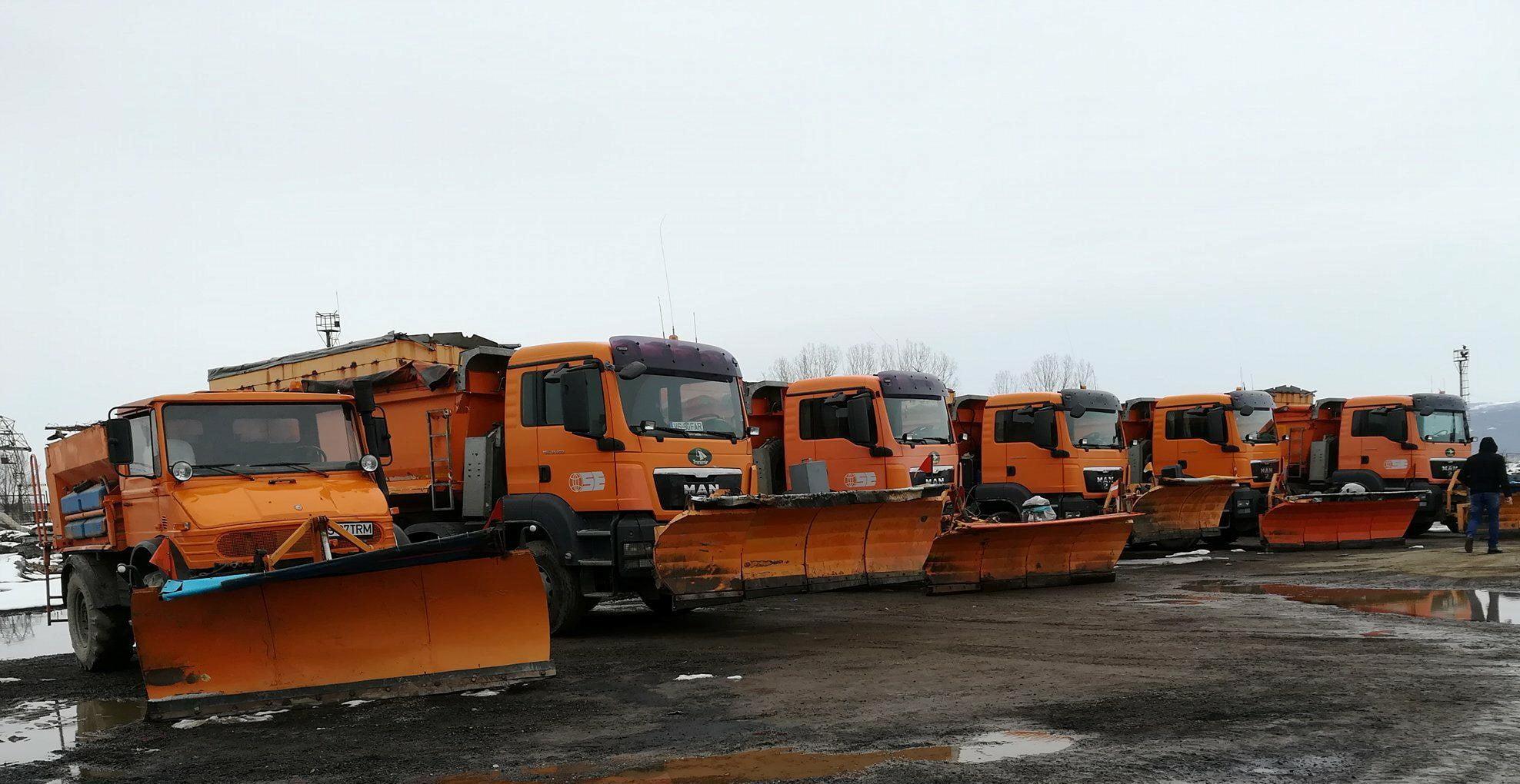 Peste 62.000 de tone de antiderapant răspândite pe drumurile din Moldova, în această iarnă