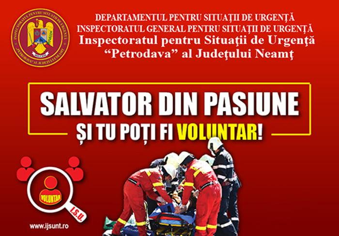 """ISU Neamț continuă campania de recrutare """"Salvator din pasiune!"""""""