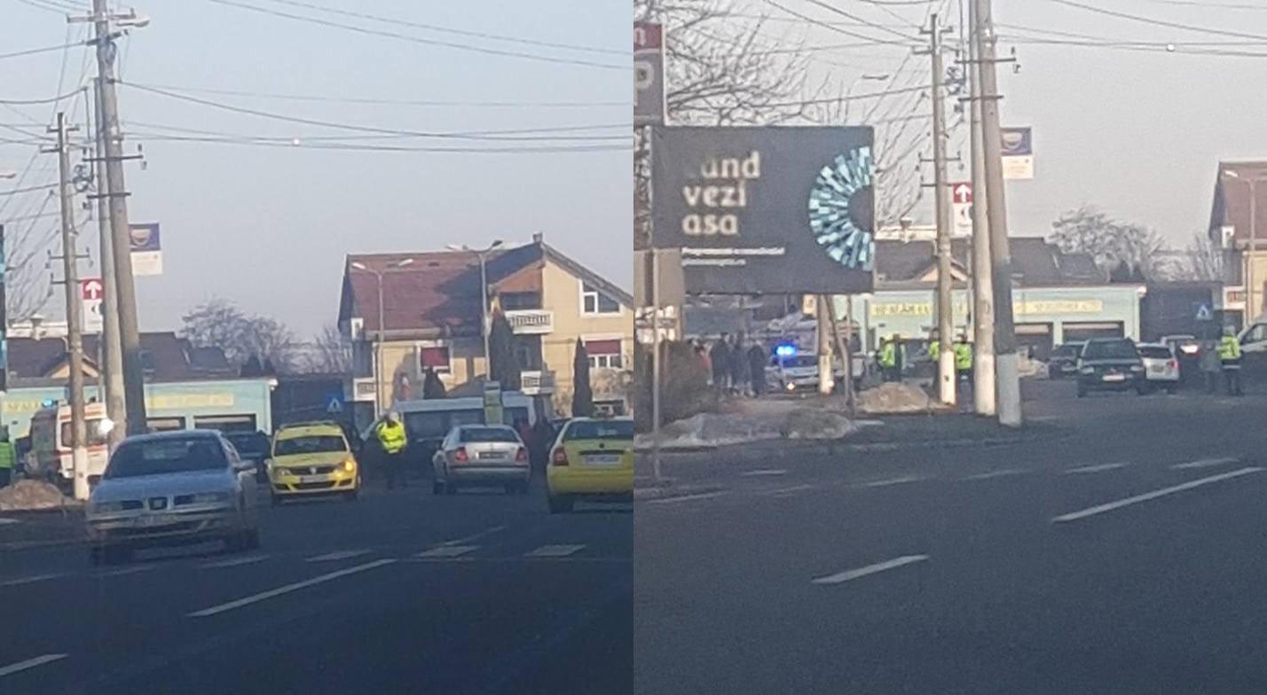 Accidentați pe trecerea de pietoni, pe bulevardul Republicii