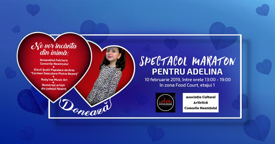 Concert caritabil pentru Adelina, fetița bolnavă de leucemie, la Shopping City Piatra Neamț