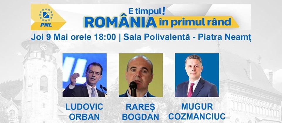 """""""E timpul Neamțului să fie în primul rând! PNL Neamț găzduiește lansarea candidaților la alegerile europarlamentare din data de 26 mai!"""""""