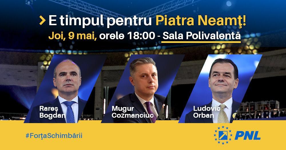 """Mugur Cozmanciuc, președintele PNL Neamț: """"E timpul ca Neamțul să fie în primul rând! Vă aștept astăzi la lansarea candidaților PNL la alegerile europarlamentare"""""""