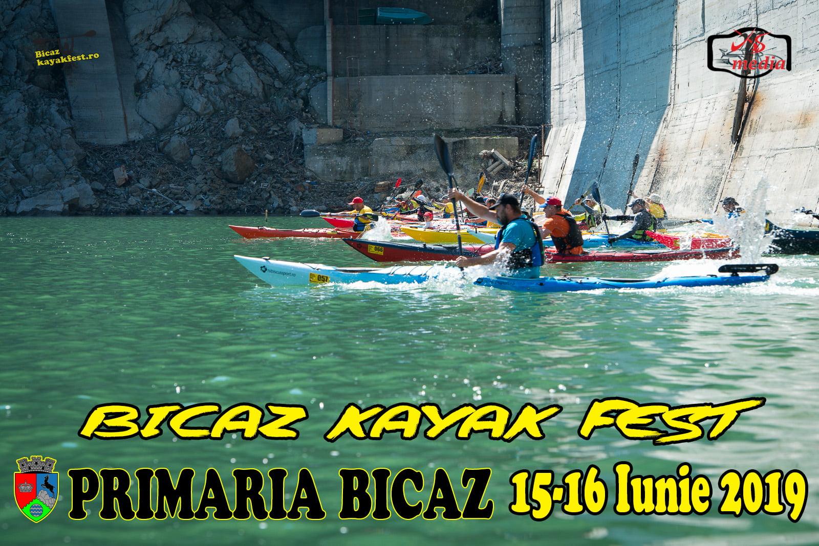 O nouă ediție a Bicaz Kayak Fest, în acest weekend, pe lacul Izvorul Muntelui