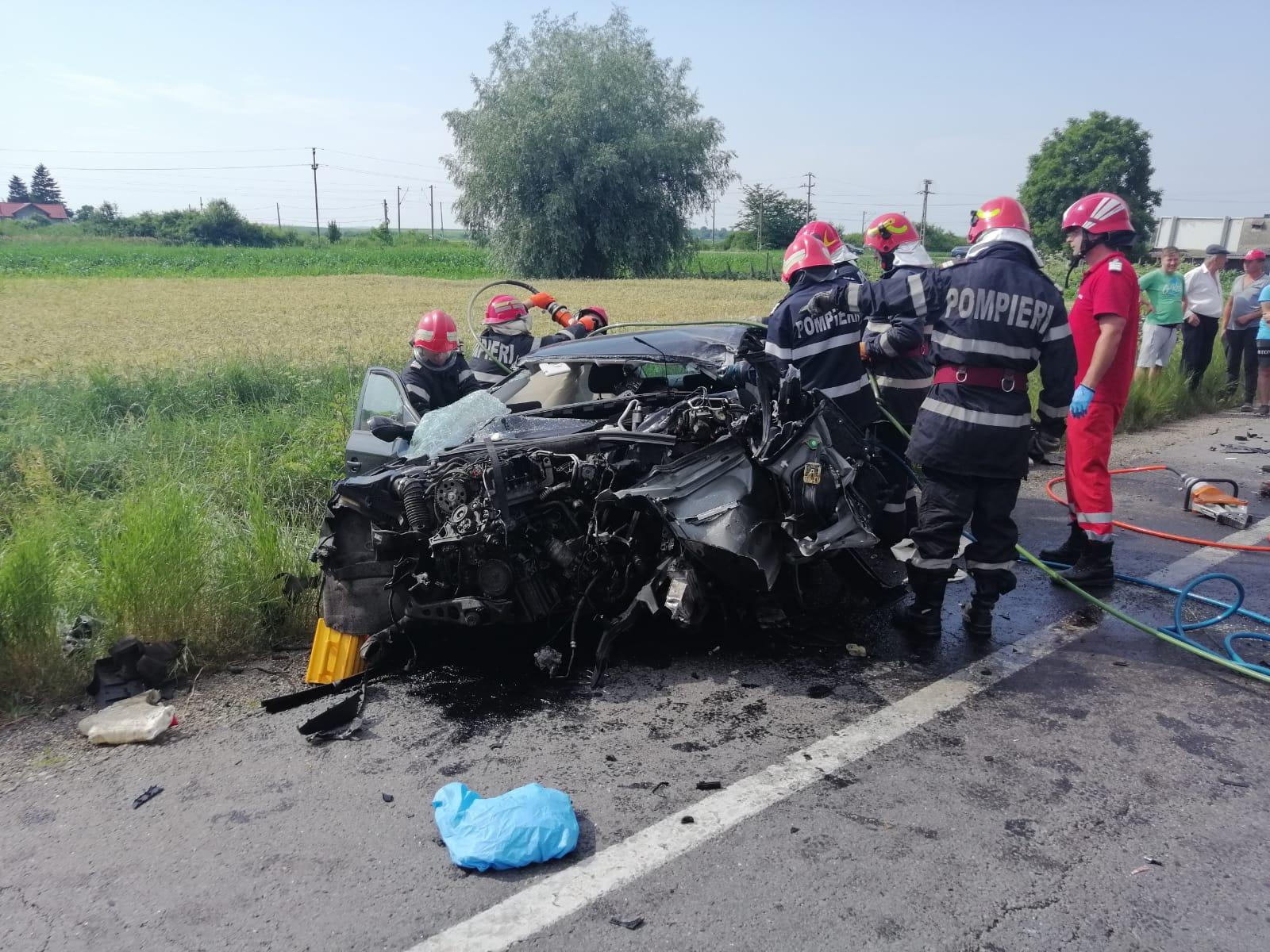 Grav accident rutier pe E 85, la Secuienii Noi